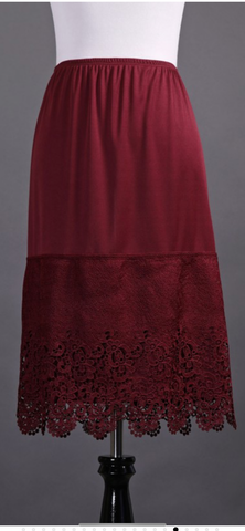 Burgundy Large Panel Slip Extender