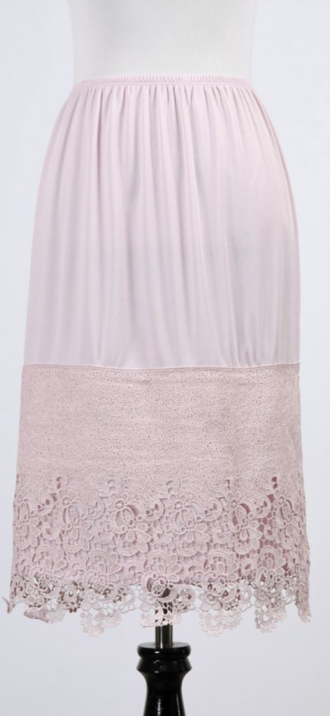 Blush/Lilac LargePanel Lace Slip  Extender