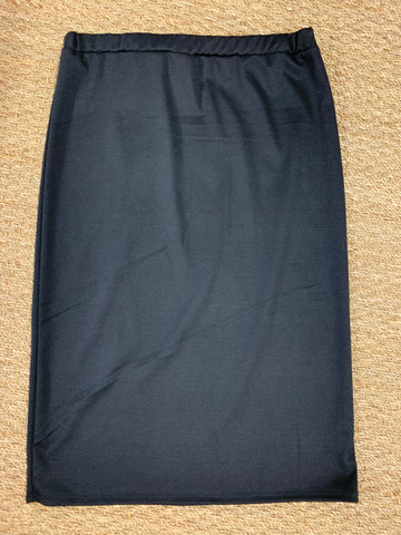 "Black Elastic Waist ""Deborah"" Pencil Skirt"