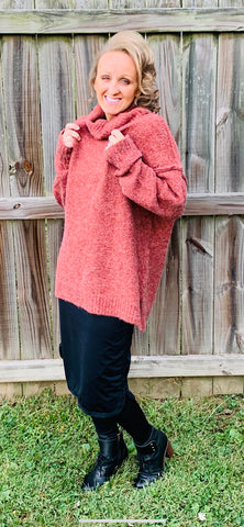 Brick Chunky Oversized Sweater