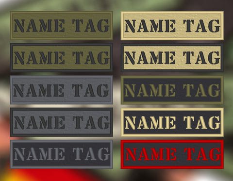 CUSTOM Bandes de Nom Militaire | Military Name Tapes