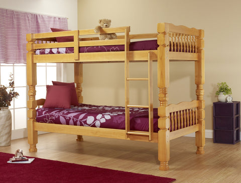 Honey Pine Twin Twin Bunk bed - Furniture App Online by Furniture Assistant  a Furniture Store in York PA