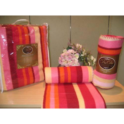 Pink Yellow Red Orange Stripes Super Plush Soft Warm Polar Large Oversize Fleece Throw Blanket - Furniture App Online by Furniture Assistant  a Furniture Store in York PA