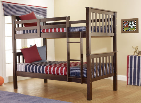Twin over Twin Java Bunk Bed-Bunk Bed-Furniture App Online (717) 685-6333