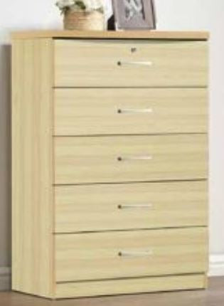 Beech 5 Drawer Chest - Furniture App Online by Furniture Assistant  a Furniture Store in York PA
