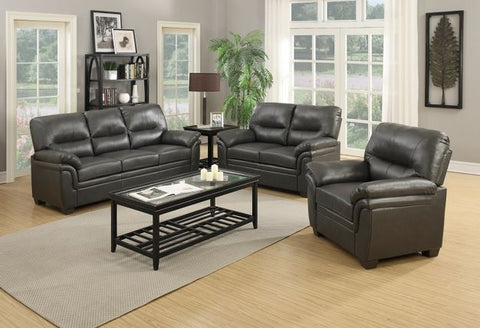 Gray Leather Stationary Living Room Set - Furniture App Online by Furniture Assistant  a Furniture Store in York PA