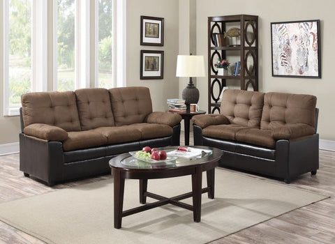 Chocolate Two-Tone Stationary Living Room Set - Furniture App Online by Furniture Assistant  a Furniture Store in York PA