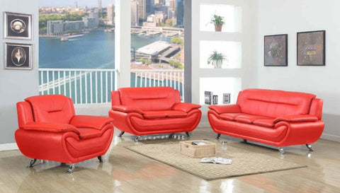 Contemporary Red Leather Sofa Set - Furniture App Online by Furniture Assistant  a Furniture Store in York PA