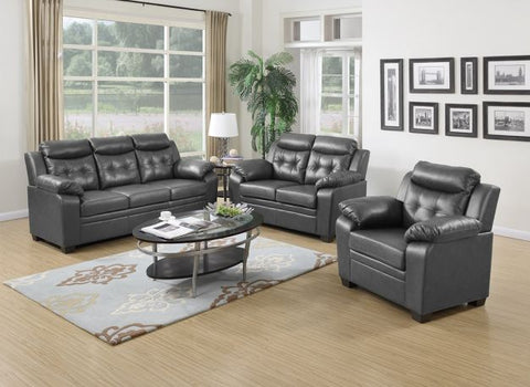 Grey Leather Sofa Set - Furniture App Online by Furniture Assistant  a Furniture Store in York PA