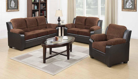 Chocolate Chenille Two-Tone Sofa Set - Furniture App Online by Furniture Assistant  a Furniture Store in York PA
