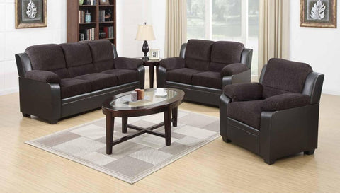 Grey Chenille Two-Tone Sofa Set - Furniture App Online by Furniture Assistant  a Furniture Store in York PA