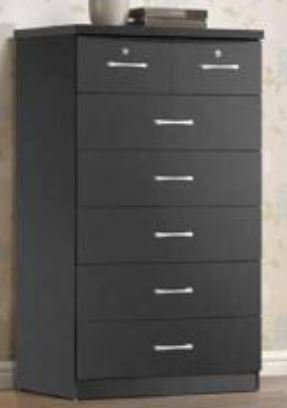Black 7 Drawer Chest - Furniture App Online by Furniture Assistant  a Furniture Store in York PA