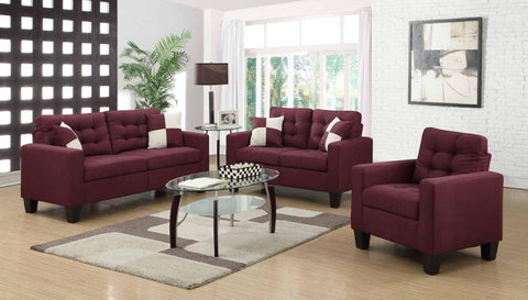 Purple Poly-Linen Sofa Set - Furniture App Online by Furniture Assistant  a Furniture Store in York PA