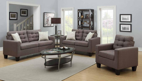 Grey Poly-Linen Sofa Set - Furniture App Online by Furniture Assistant  a Furniture Store in York PA