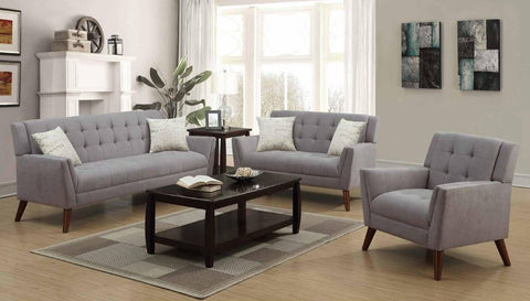 Grey Poly-Chenille Sofa Set - Furniture App Online by Furniture Assistant  a Furniture Store in York PA