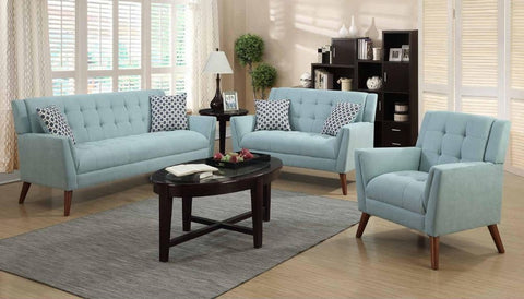 Turquoise Poly-Chenille Sofa Set - Furniture App Online by Furniture Assistant