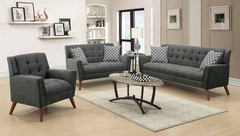 Charcoal Poly-Chenille Sofa Set - Furniture App Online by Furniture Assistant  a Furniture Store in York PA