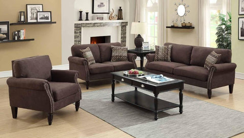Chocolate Velveteen Sofa Set - Furniture App Online by Furniture Assistant  a Furniture Store in York PA