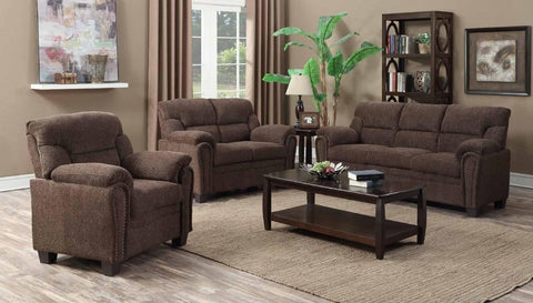 Chocolate Poly-Chenille Sofa Set - Furniture App Online by Furniture Assistant  a Furniture Store in York PA