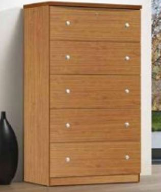 Cherry 5 Drawer Chest Jumbo - Furniture App Online by Furniture Assistant  a Furniture Store in York PA
