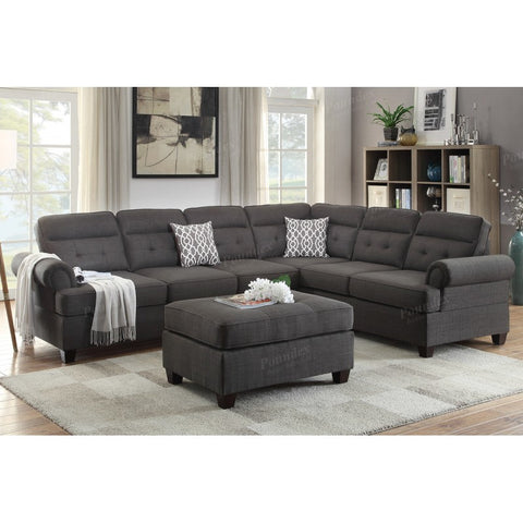 Ash Black Dorris Reversible Sectional - Furniture App Online by Furniture Assistant  a Furniture Store in York PA