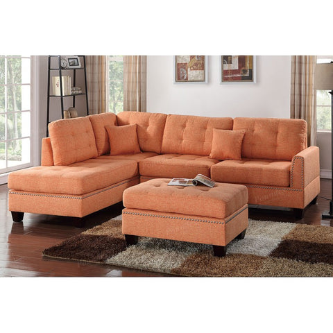 Citrus Reversible Chaise Sectional with Ottoman - Furniture App Online by Furniture Assistant  a Furniture Store in York PA