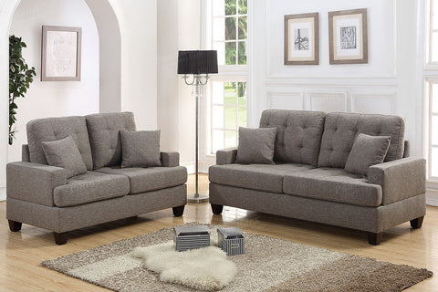 2 PC Coffee Polyfiber Sofa Set - Furniture App Online by Furniture Assistant  a Furniture Store in York PA