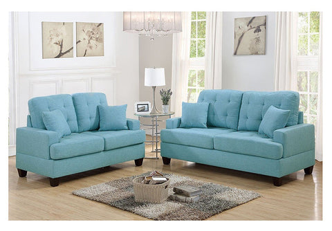 2 PC Blue Polyfiber Sofa Set - Furniture App Online by Furniture Assistant  a Furniture Store in York PA