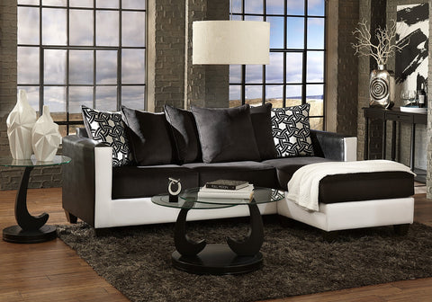 Black and White 2 Piece Sectional - Furniture App Online by Furniture Assistant  a Furniture Store in York PA