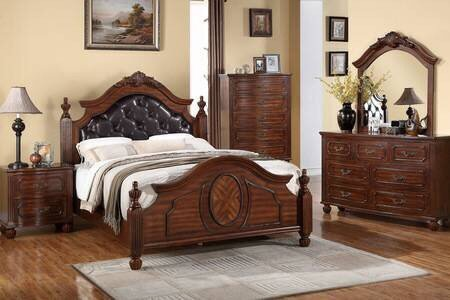 Nikki Cherry Wood Bed - Furniture App Online by Furniture Assistant  a Furniture Store in York PA
