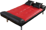 Red Plush Convertible Klik Klak Sofa Bed - Furniture App Online by Furniture Assistant  a Furniture Store in York PA