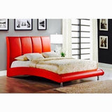 Red Contemporary Leather Bed - Furniture App Online by Furniture Assistant  a Furniture Store in York PA