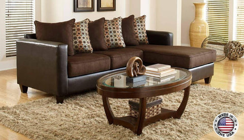 Brown Sofa Chaise Sectional Set - Furniture App Online by Furniture Assistant  a Furniture Store in York PA