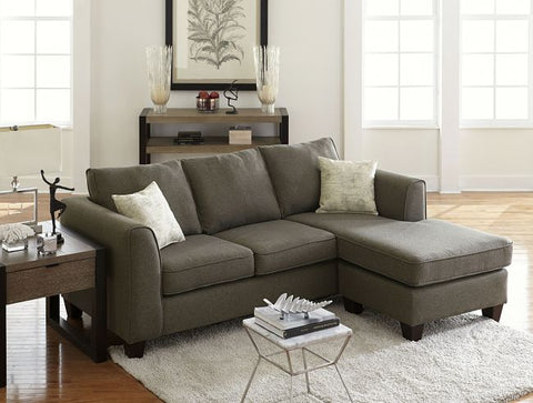 Grey Sofa Chaise Chenille Sectional Set - Furniture App Online by Furniture Assistant  a Furniture Store in York PA