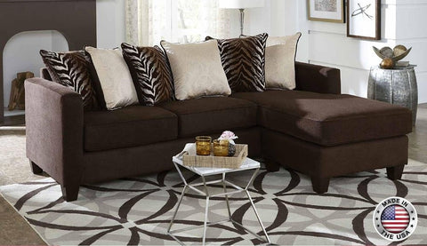 Brown Sofa Chaise Chenille Sectional Set - Furniture App Online by Furniture Assistant  a Furniture Store in York PA