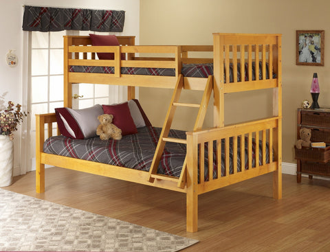 Honey Pine Twin over Full Bunk Bed - Furniture App Online by Furniture Assistant  a Furniture Store in York PA