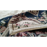 Navy Blue Elegant Victorian Soft Chenille Floral Medallion Woven Tapestry Coverlet Bedspread Set (YFJF-D-001-1) - Furniture App Online by Furniture Assistant  a Furniture Store in York PA