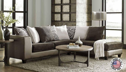 Champagne Brown Sofa Chaise Sectional Set - Furniture App Online by Furniture Assistant  a Furniture Store in York PA