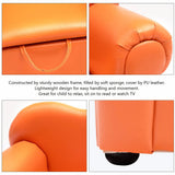 Kids Sofa Armrest Chair Couch W/ Storage Orange - Furniture App Online by Furniture Assistant  a Furniture Store in York PA