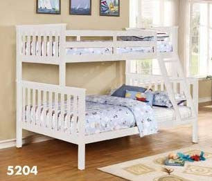 White Twin over Full Bunk Bed - Furniture App Online