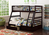 Java Twin Over Full Wooden Bunk Bed with Trundle - Furniture App Online by Furniture Assistant  a Furniture Store in York PA
