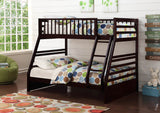 Java Twin Over Full Wooden Bunk Bed - Furniture App Online by Furniture Assistant  a Furniture Store in York PA