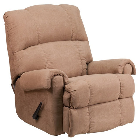 Victory Lane Taupe Fabric Contemporary Rocker Recliner-Recliner-Furniture App Online by Furniture Assistant