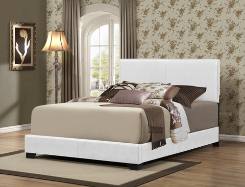 Upholstered Bed White/Brown - Furniture App Online