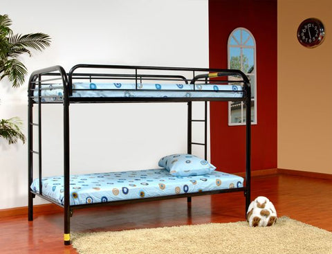 Black Twin Over Twin Metal Bunk Bed - Furniture App Online by Furniture Assistant  a Furniture Store in York PA