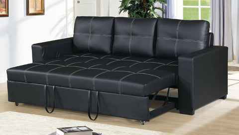 Black Convertible Pull Out Sofa - Furniture App Online by Furniture Assistant  a Furniture Store in York PA