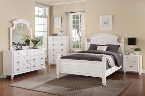 White Post Bed - Furniture App Online