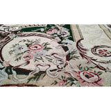 Dark Olive Green Victorian Floral Elegant Chenille Medallion Woven Tapestry Coverlet Bedspread Set (DSC0012) - Furniture App Online by Furniture Assistant  a Furniture Store in York PA