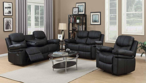 Black Double Reclining Sofa Set - Furniture App Online by Furniture Assistant  a Furniture Store in York PA
