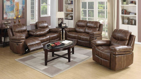 Weathered Brown Double Reclining Sofa Set - Furniture App Online